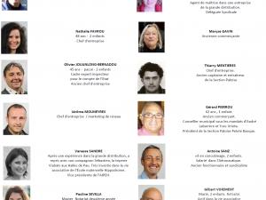 """Quatorze des candidats de la liste """"Pau Avant Tout"""""""